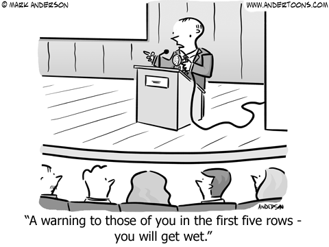 Company Tanking Business Cartoon