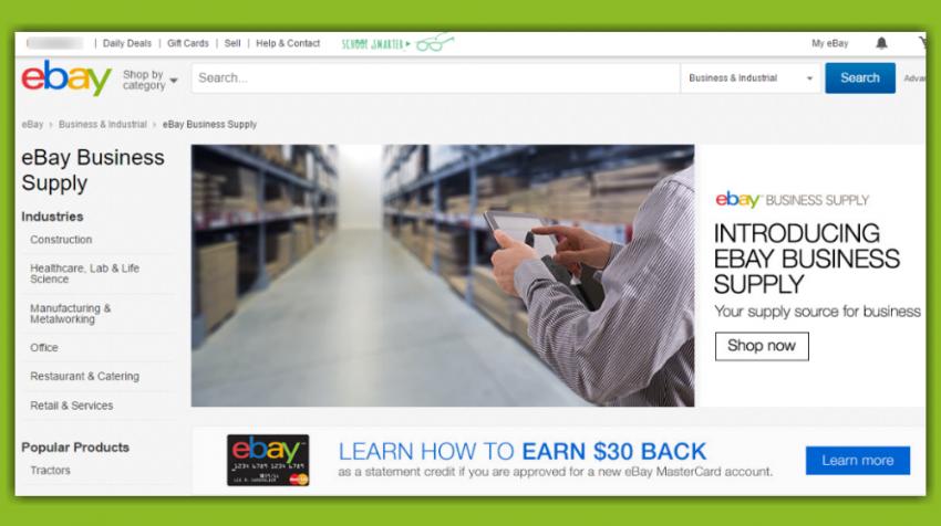 eBay Business Supply Brings B2B Sales Under One Umbrella