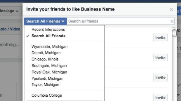 How to Create a Facebook Business Page - Invite Your Friends