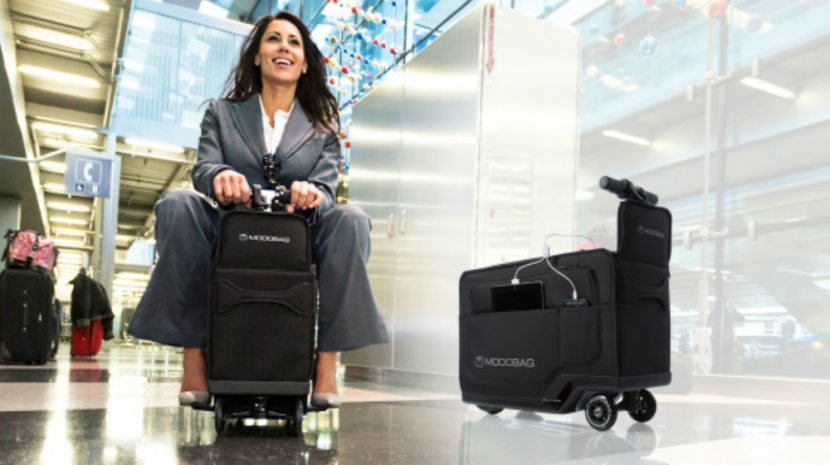 Watch Out for Modobag! It's People Driving Motorized Luggage -- Really, It Is