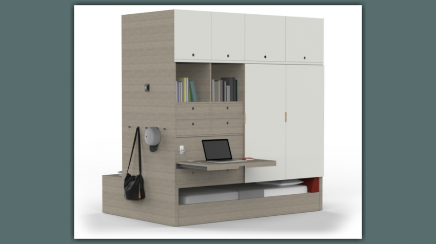 Ori Robotic Furniture Creates Small Home Office in Seconds
