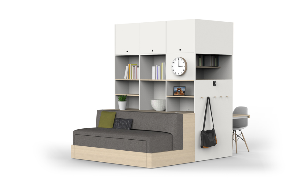 Ori Robotic Furniture for a Small Home Office - Queen Front