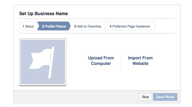 How to Create a Facebook Business Page -  Add a Photo