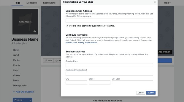 How to Create a Facebook Business Page - Add a Shop Section