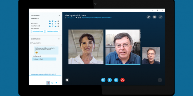 get free skype for business meetings with hd video