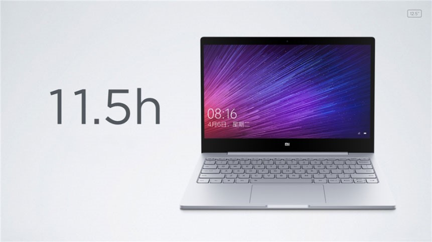 Xiaomi Laptop - Mi Notebook Air with a diagonal of 12.5 inches