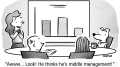 Middle Management Business Cartoon