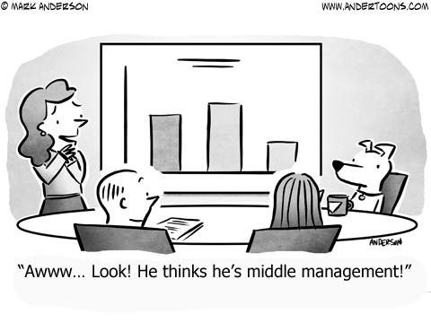 Middle Management Business Cartoon