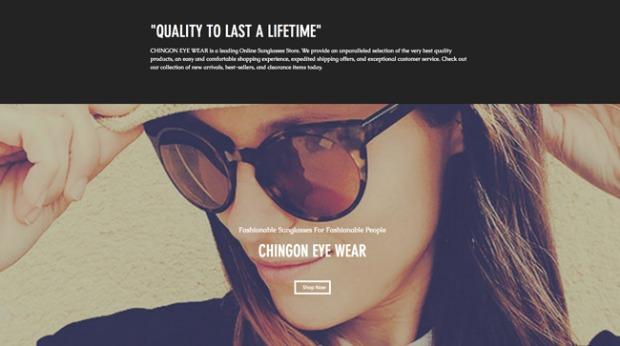 AI Web Design - Chingon Sunglasses