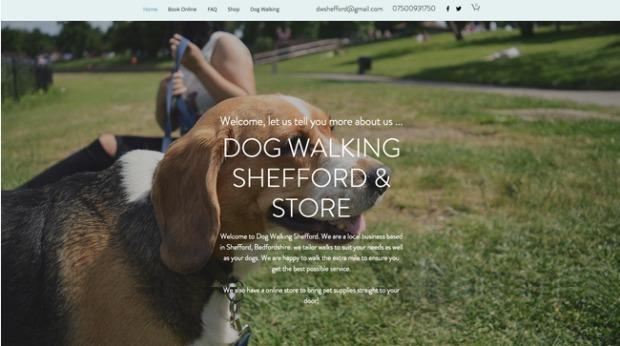 AI Web Design - Dog Walking Shefford & Store