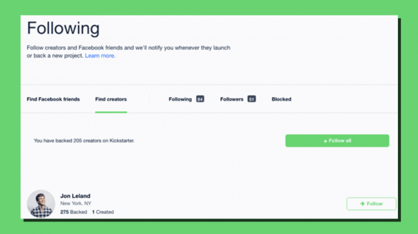 Kickstarter Adds a 'Follow' Feature, Makes the Funding Platform More Social - Learn How to Use Kickstarter's Follow Button