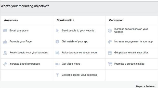 How to Make a Facebook Slideshow Ad - Select a Vidoe Objective