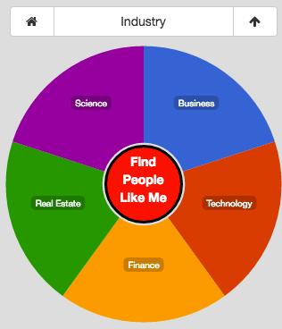 Plum social network profile pie - Industry