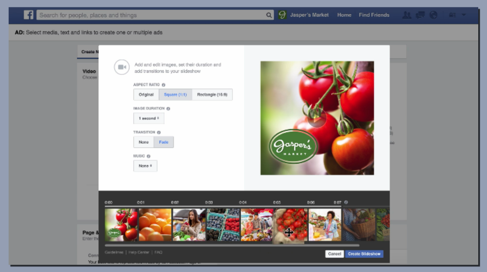 Facebook Introduces Text, Music Other Features to Slideshow