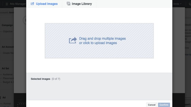 How to Make a Facebook Slideshow Ad - Upload Photos