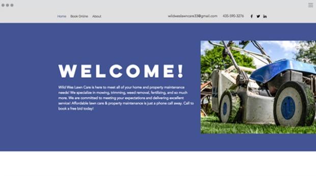 AI Web Design - Wild Wes Lawn Care