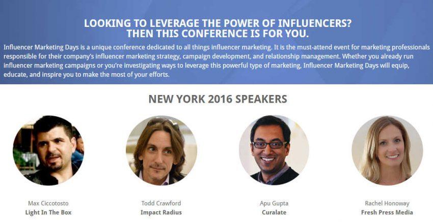Influencer Marketing Days Slated for November in New York City