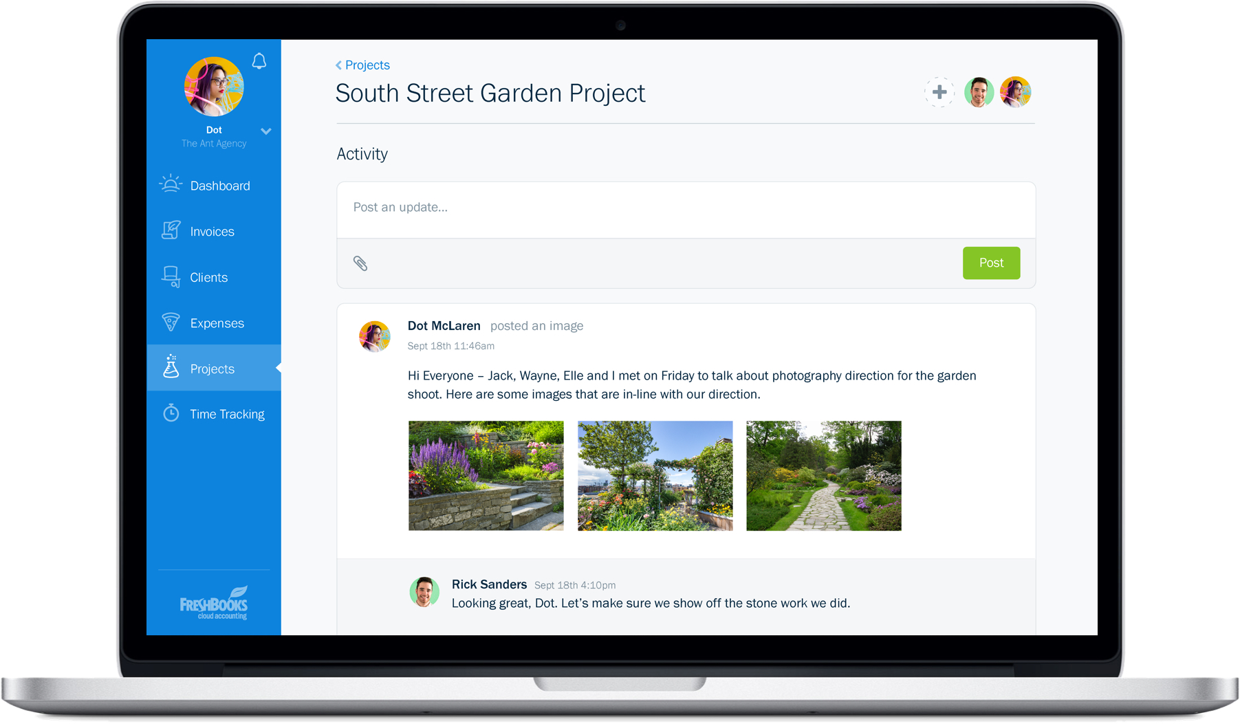 Freshbooks Redesign - Project Management