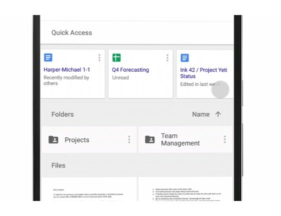 Google G Suite - Quick Access
