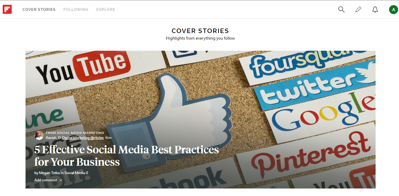 Using Flipboard for Business - Cover Stories