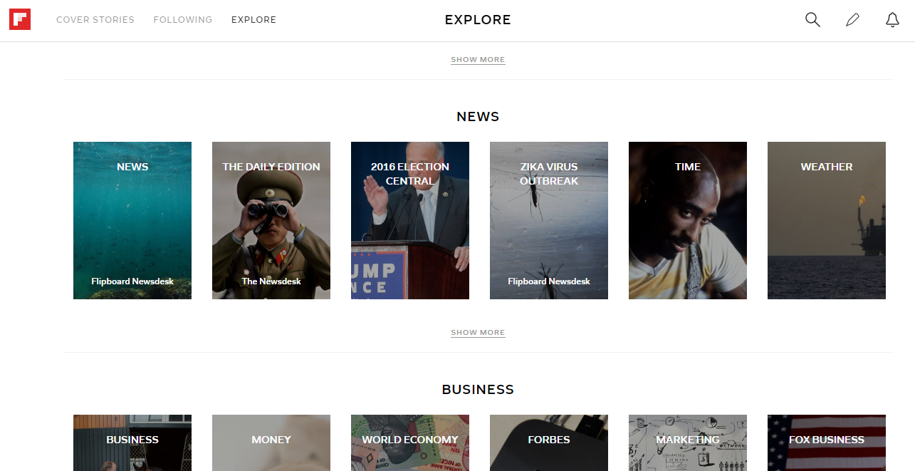 Using Flipboard for Business - Explore