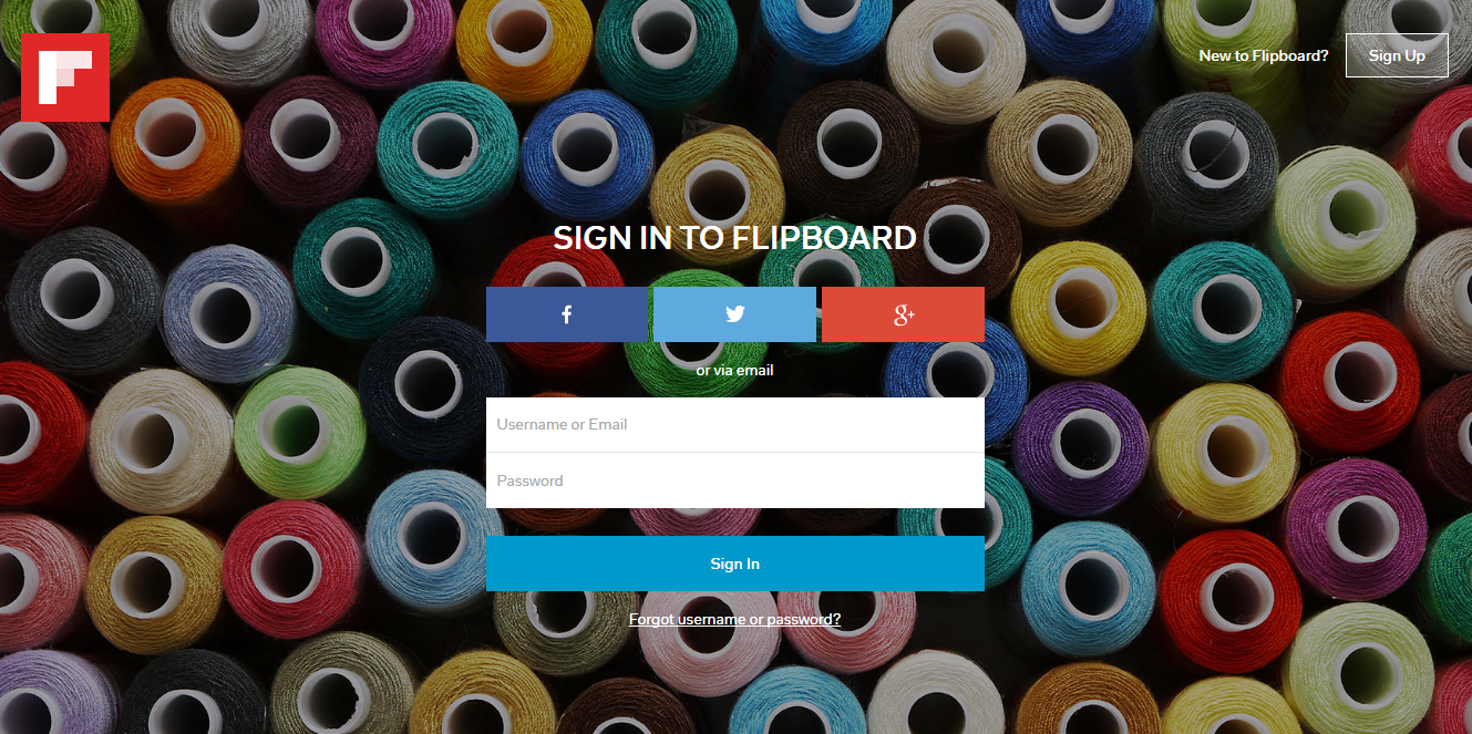 Using Flipboard for Business - Sign-Up