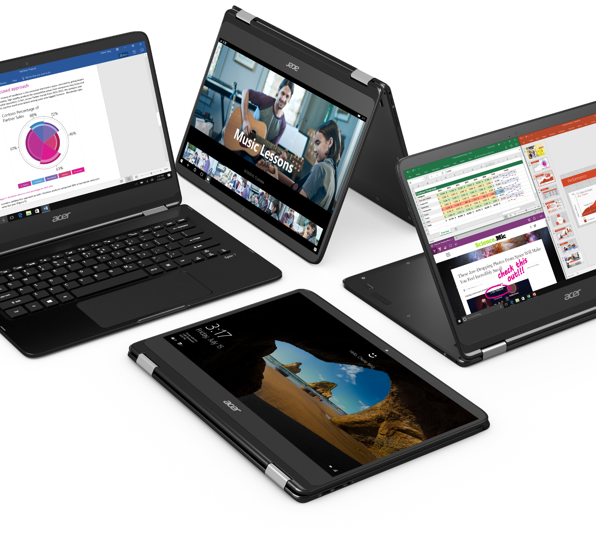 Small Acer Laptops: The Convertible Spin 7