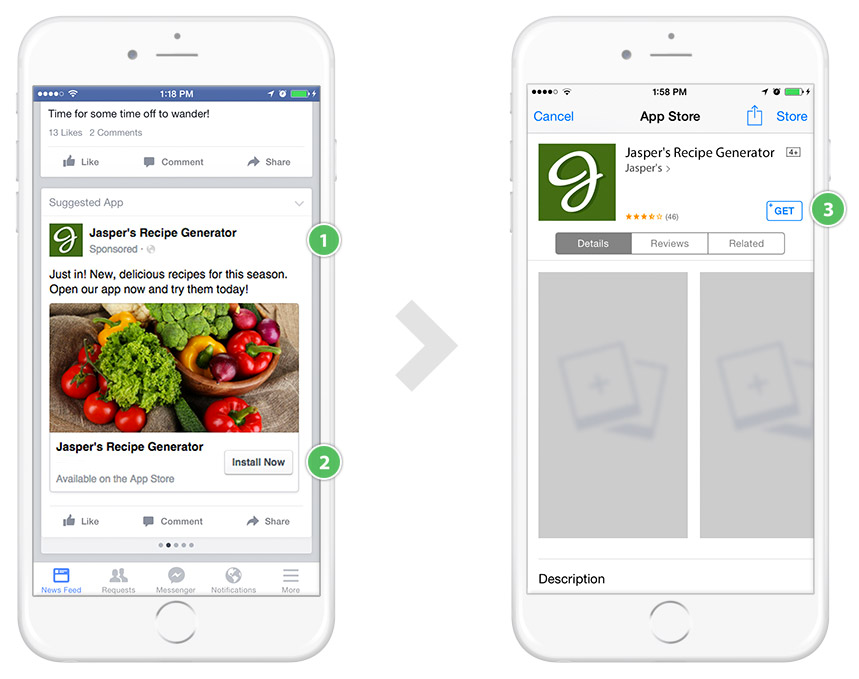 Facebook Advertising Tips - You Can Sell Your App by Deep Linking From Your Facebook Ad
