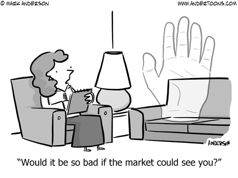 Invisible Hand Business Cartoon