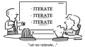Reiterate Business Cartoon