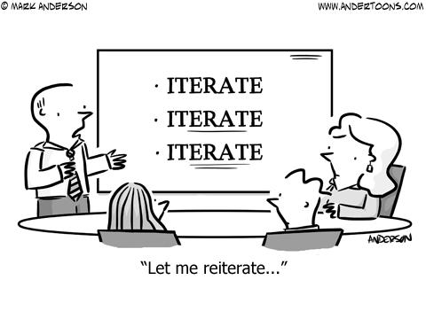 Reiterate Business Cartoon