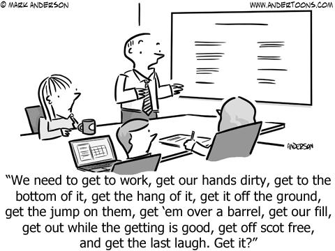 Get It Business Cartoon
