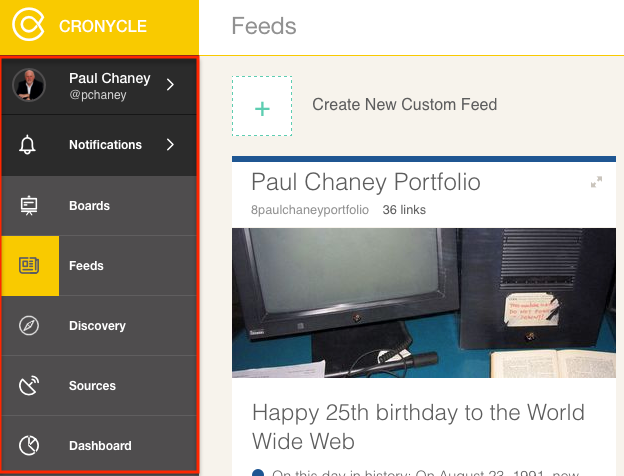 Collaborative Content Curation Platform Cronycle: Admin Console