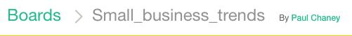 Collaborative Content Curation Platform Cronycle: Board Title