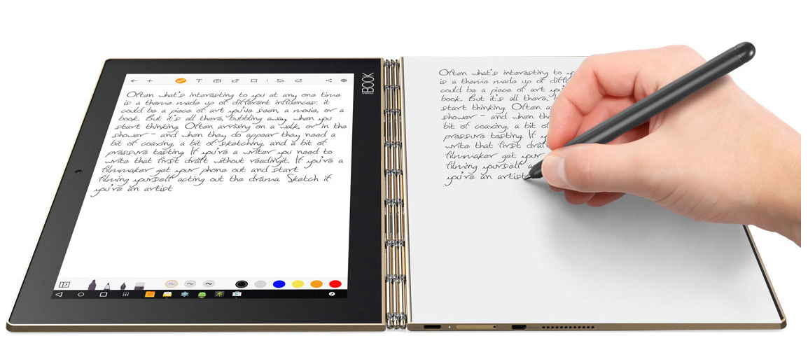 Lenovo Yoga Book - Take Notes and Have Them Digitized