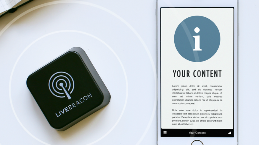 Live Beacon Sends Web Content and Notifications to Nearby Phones