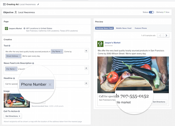 Facebook Advertising Tips - You Can Dynamically Modify Calls to Action in Your Ads Based on Location