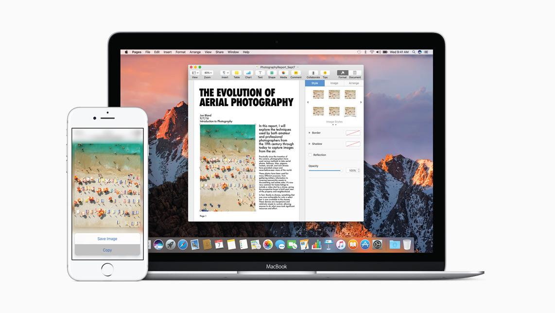 MacOS Sierra - Universal Clipboard