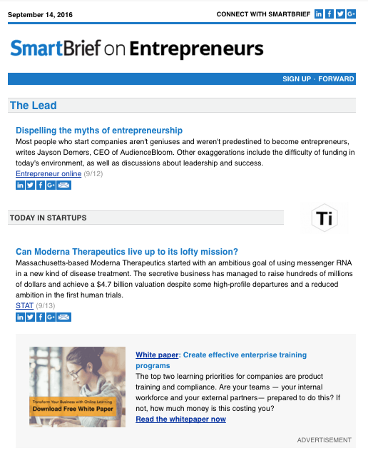 SmartBrief on Entrepreneurs