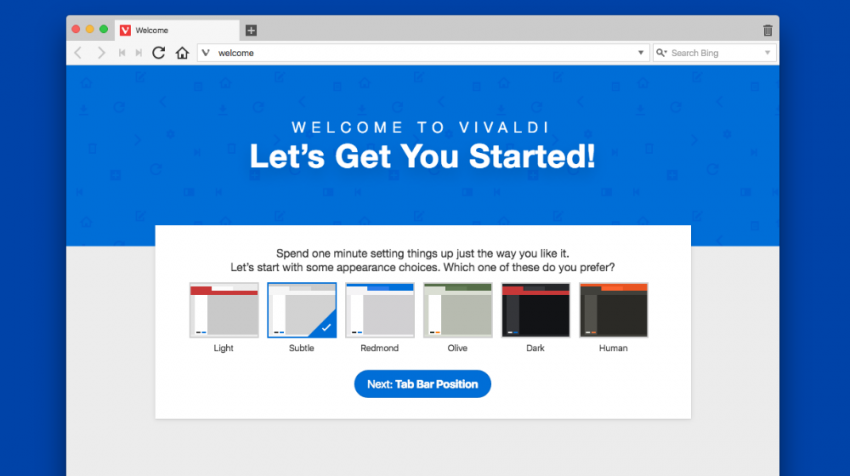 Alternative Browser Vivaldi Offers Option Apart from Chrome, Firefox, Others