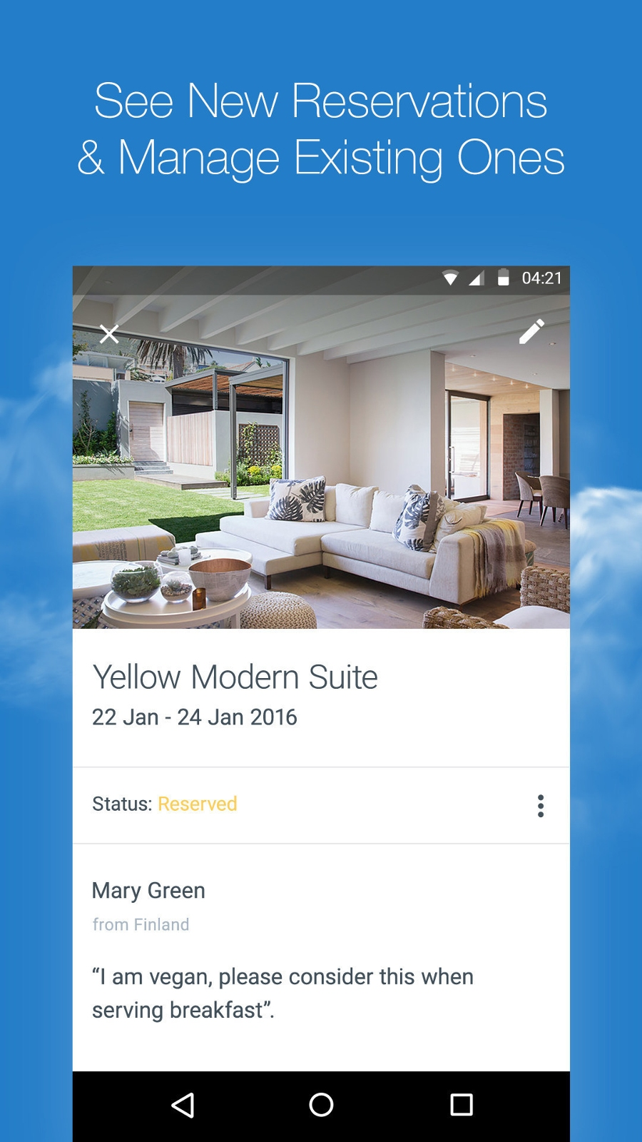 Wix Mobile App - Manage Reservations