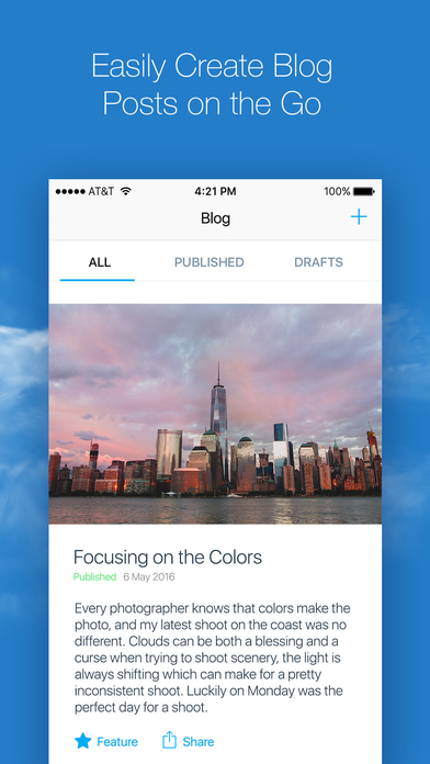 Wix Mobile App - Blog On The Go