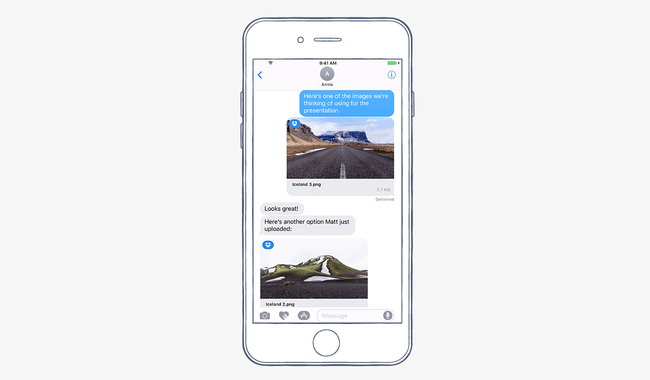 Latest Version of the iOS Dropbox App - Share Dropbox files in iMessage