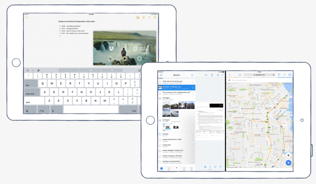 Latest Version of the iOS Dropbox App - Split Screen Support