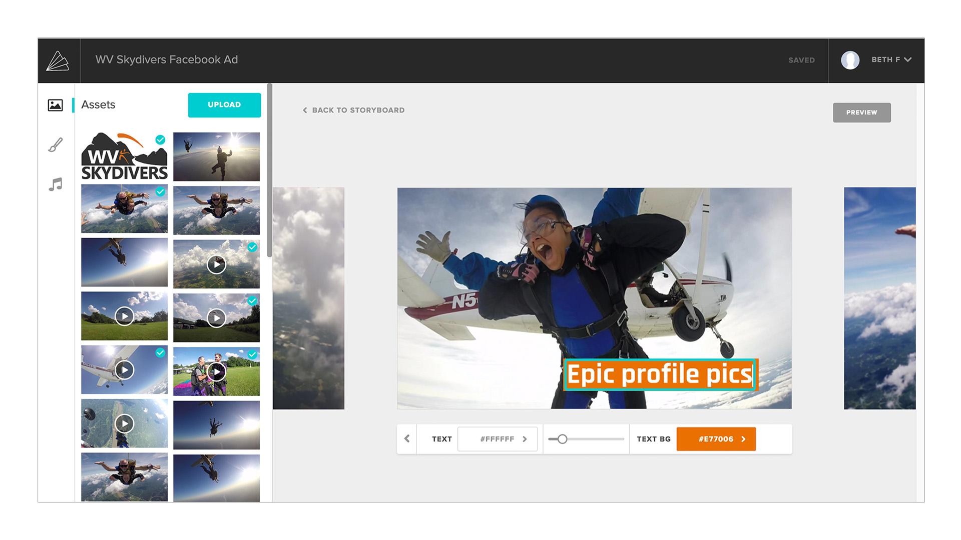 Animoto Marketing Video Builder - Text Control