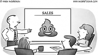 Poop Emoticon Business Cartoon