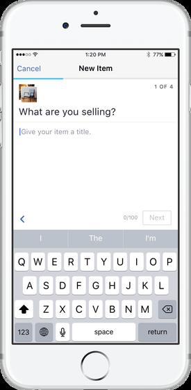 Posting an Item for Sale on Facebook Marketplace