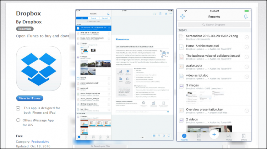 Latest Version of the iOS Dropbox App Offers 5 New Features that Let You Work from Wherever