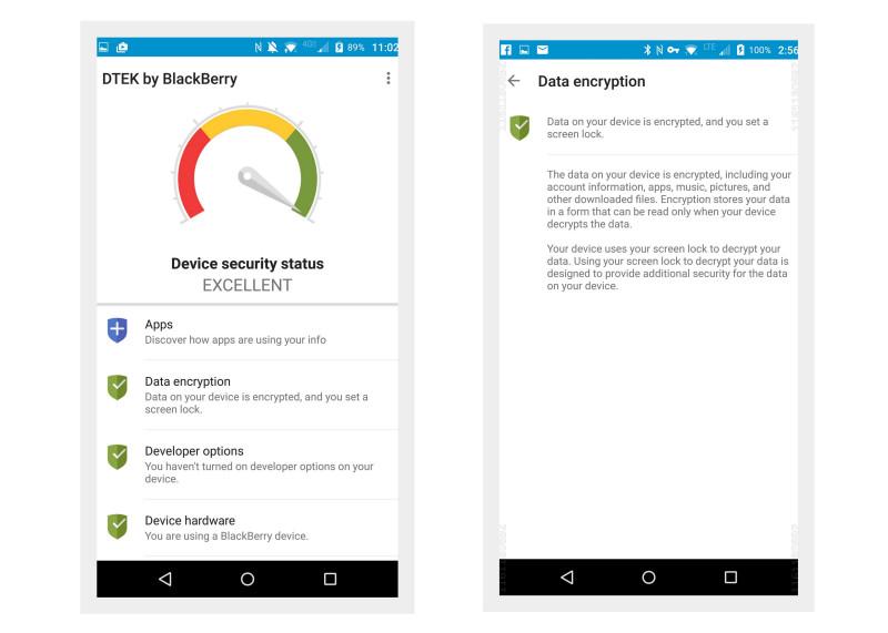 BlackBerry DTEK60 Android Smartphone - Security