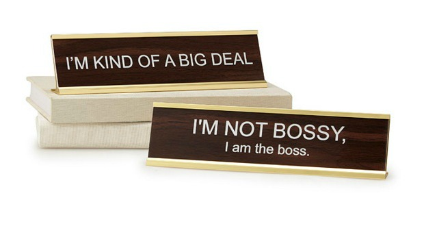 Holiday Gift Ideas for Employees - Big Personality Desk Signs